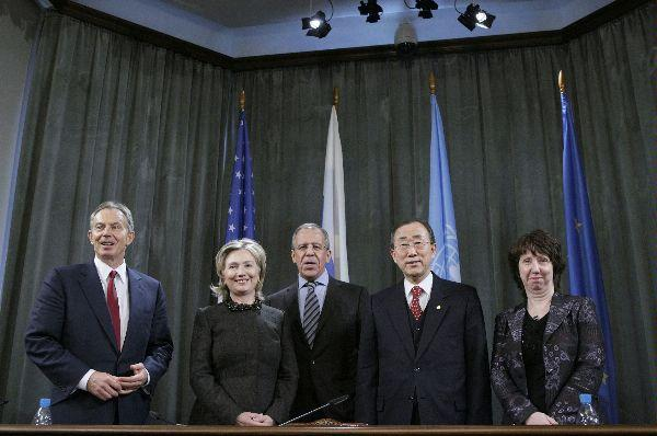 Secretary Clinton With Middle East Quartet