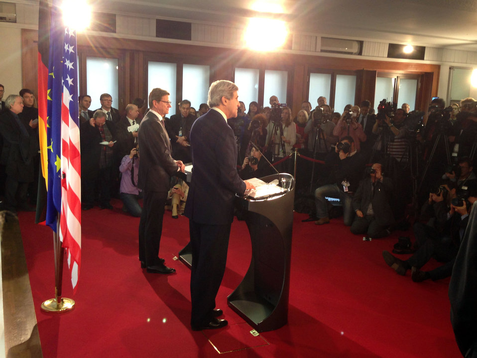 Secretary Kerry and German Foreign Minister Westerwelle Address Reporters