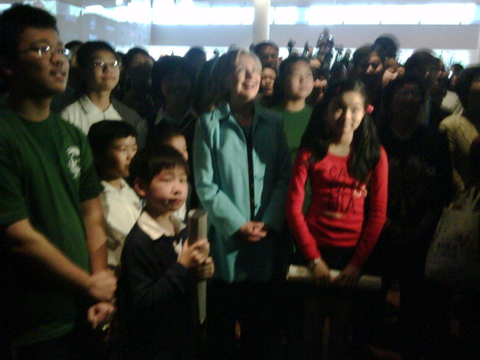 U.S. Secretary of State Hillary Rodham Clinton Visits Shanghai Expo