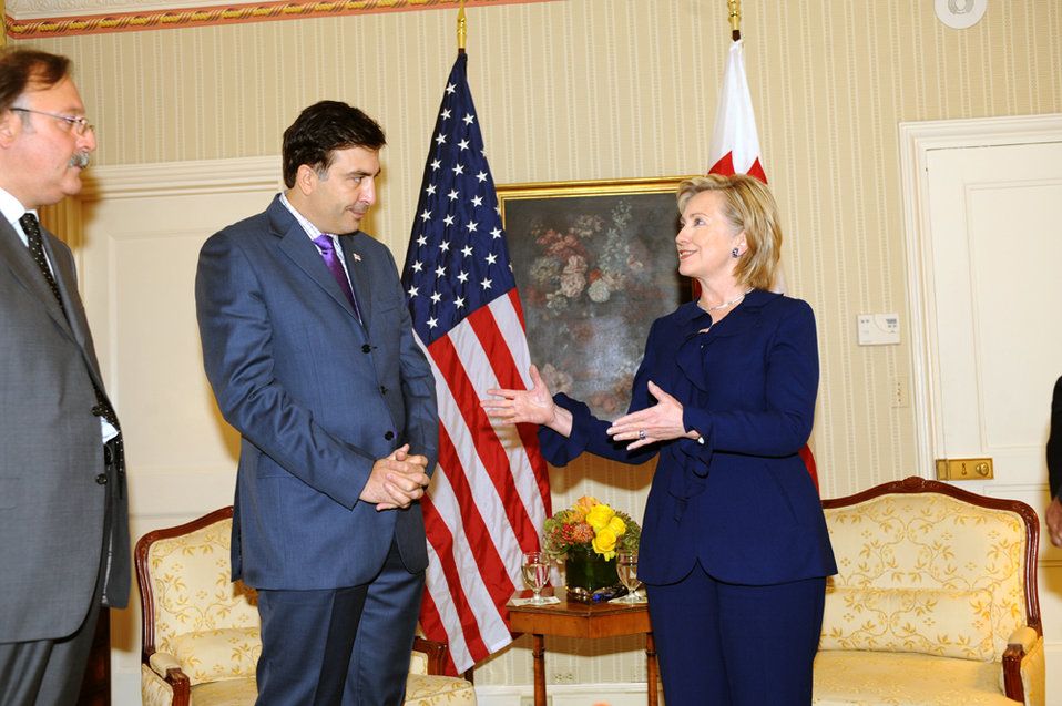 UNGA 2009: Secretary Clinton Meets With Georgian President
