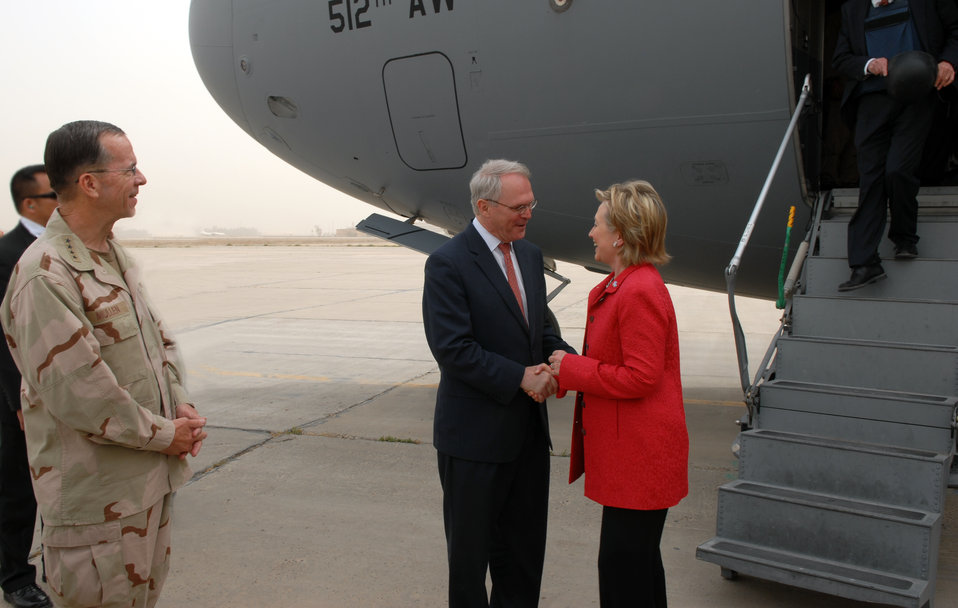 Secretary Clinton Arrives in Baghdad