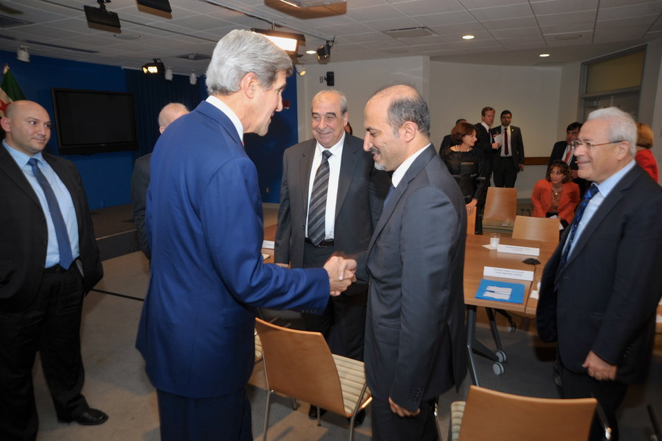 Secretary Kerry Meets With Members of the Syrian Opposition Council