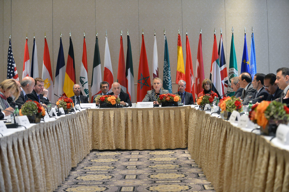 Secretary Clinton Hosts Ad Hoc Friends of the Syrian People Ministerial