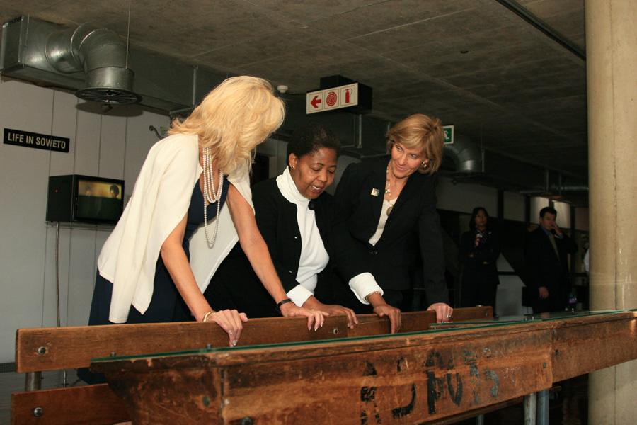 Dr. Jill Biden and Liz Berry Gips Visit Hector Pieterson Museum