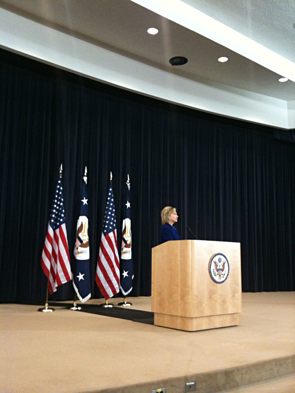 Secretary Clinton at State Department Town Hall