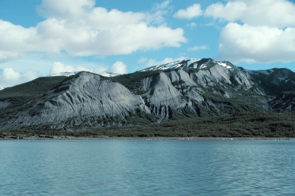 Tilted strata in Tann Fjord.
