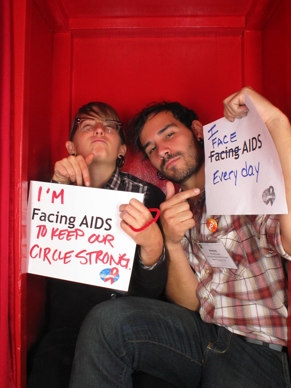 I am Facing AIDS to keep our circle strong. I face AIDS everyday.