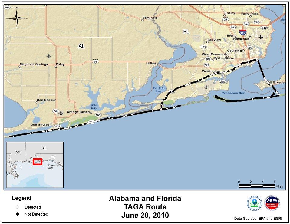 EPA TAGA Air Monitoring Locations June 20, 2010