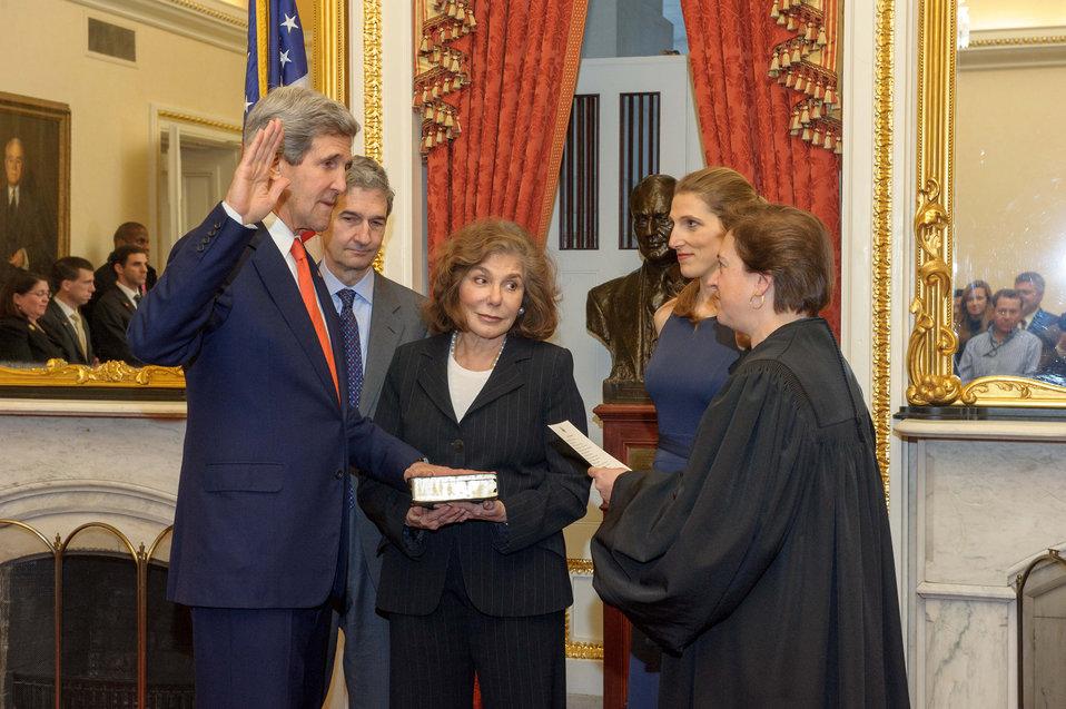 Supreme Court Justice Kagan Swears in Secretary Kerry