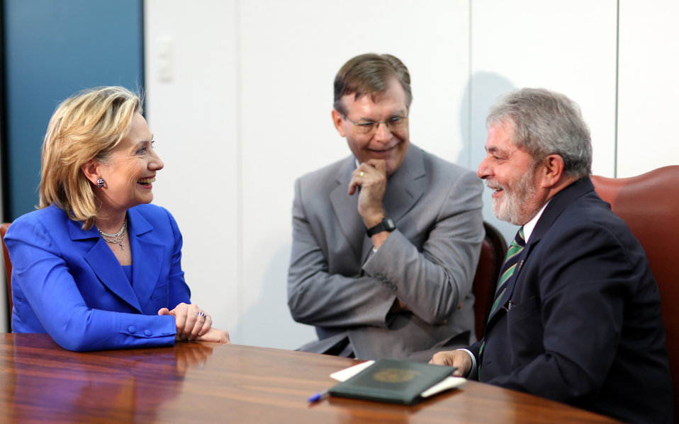 Secretary Clinton With President Lula