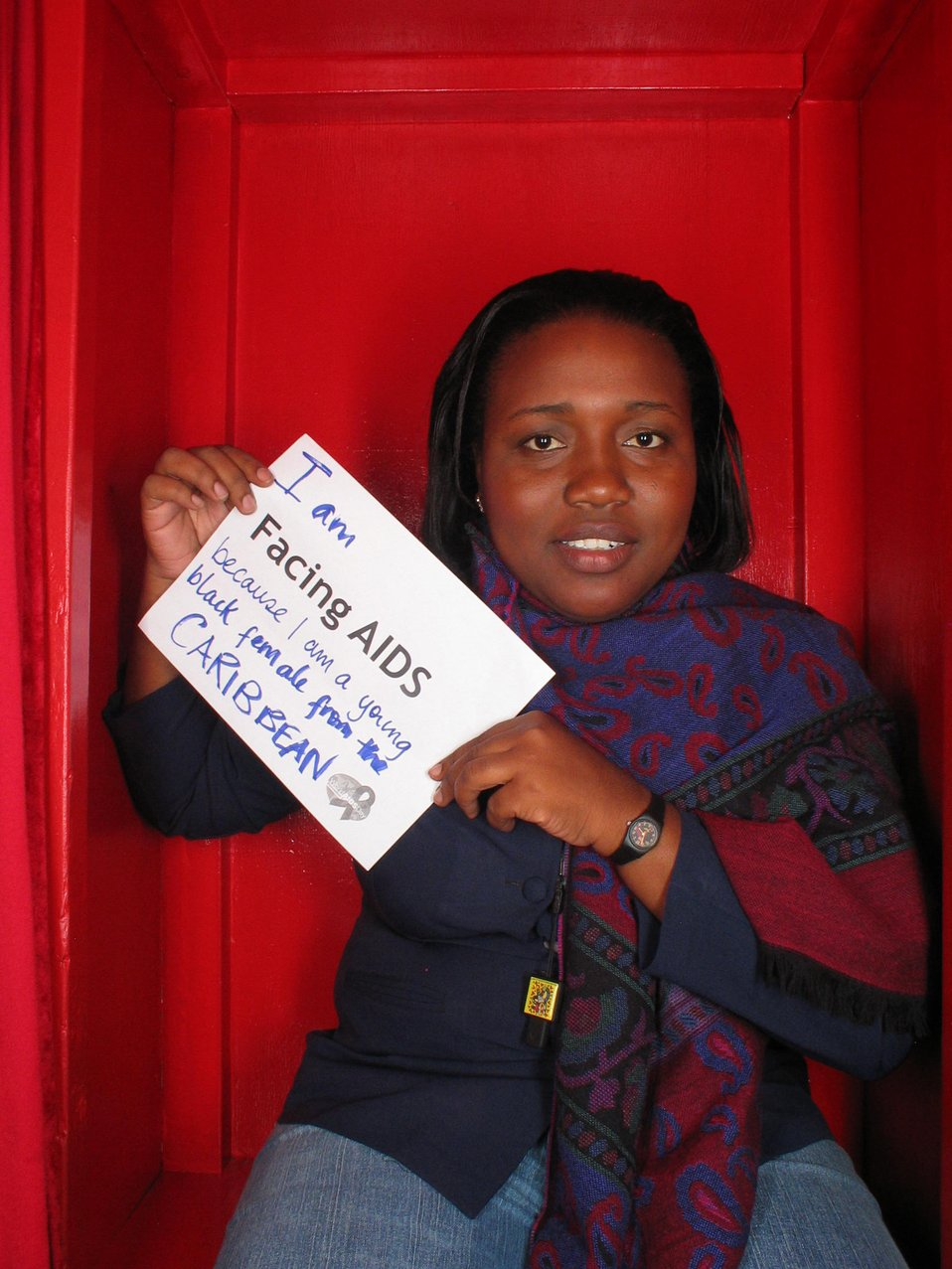 I am Facing AIDS because I am a young black female from the Caribbean