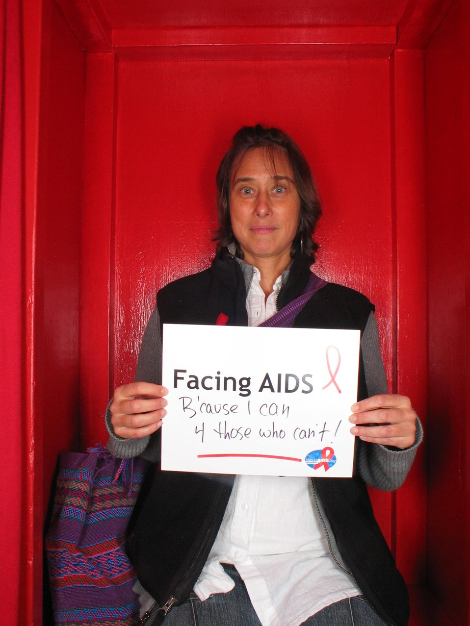 Facing AIDS because I can 4 those who can't.