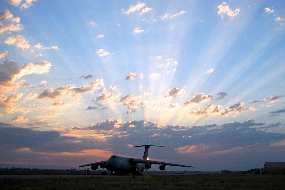 C-5 at Sunset