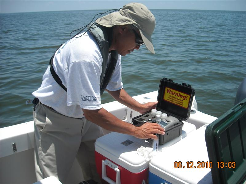 EPA water sampling along the Gulf coast