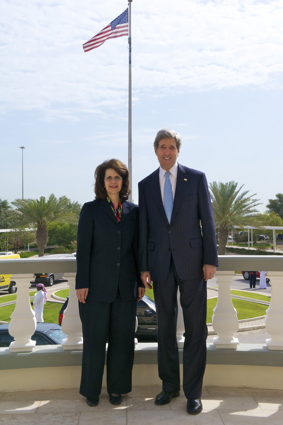 Secretary Kerry With Ambassador Ziadeh