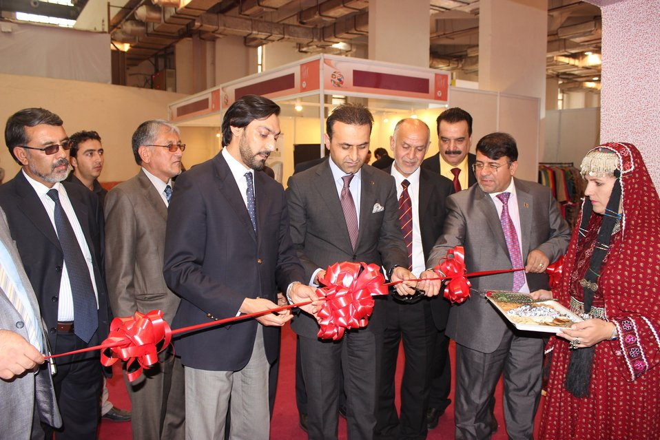 Ribbon cutting of Afghanistan Pavilion