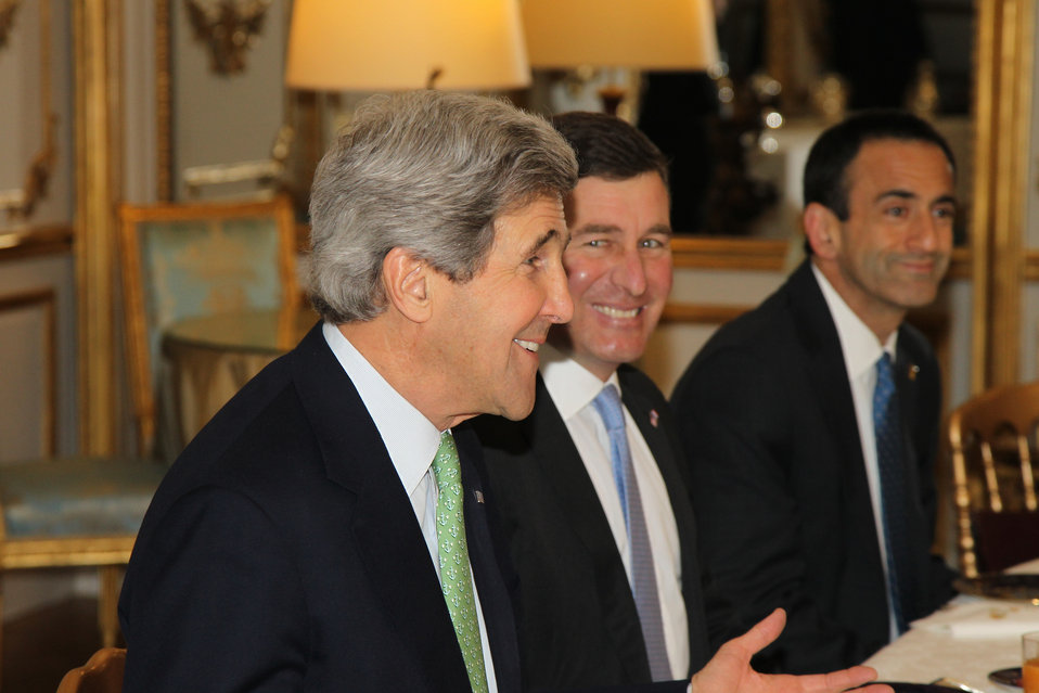 Secretary Kerry Meets With President Hollande
