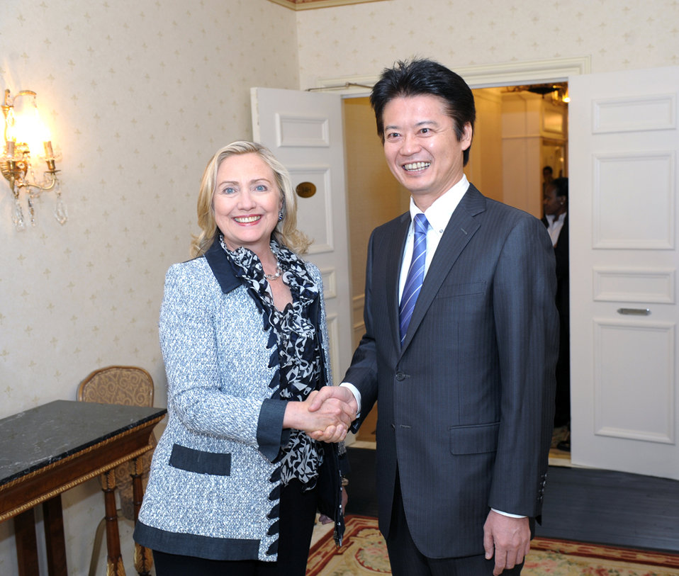 Secretary Clinton Meets With Japanese Foreign Minister Gemba Gemba
