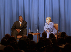 Secretary Clinton Conducts Town Hall Meeting With Congolese Students