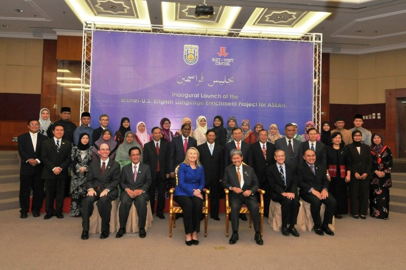Secretary Clinton and Brunei's Foreign Minister Prince Mohamed Bolkiah Participate in the Launch of the Brunei-U.S. English Language Enrichment Project