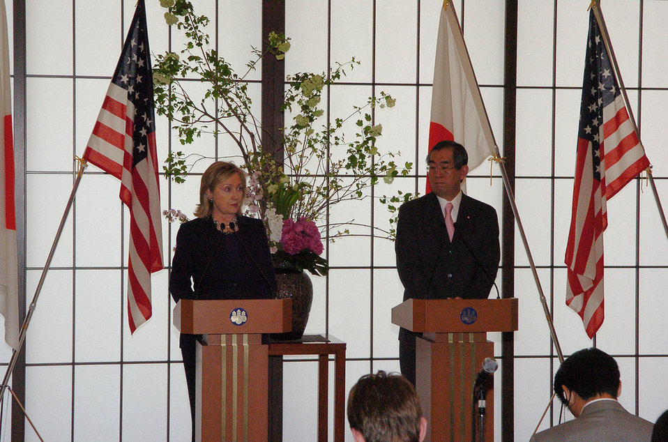 Secretary Clinton and Japanese Foreign Minister Matsumonto Address the Press