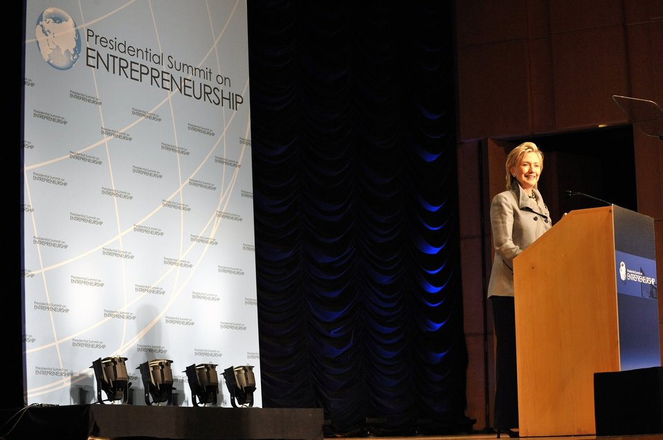 Secretary Clinton Addresses Presidential Summit on Entrepreneurship