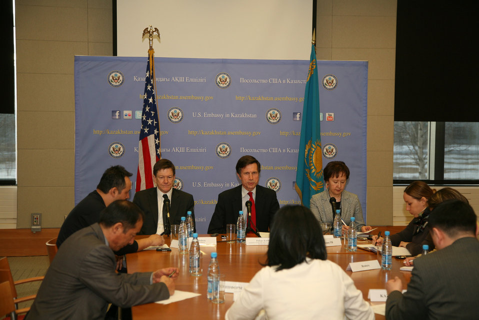 Assistant Secretary Blake and Charge d'Affairs Ordway Participate in a Media Roundtable