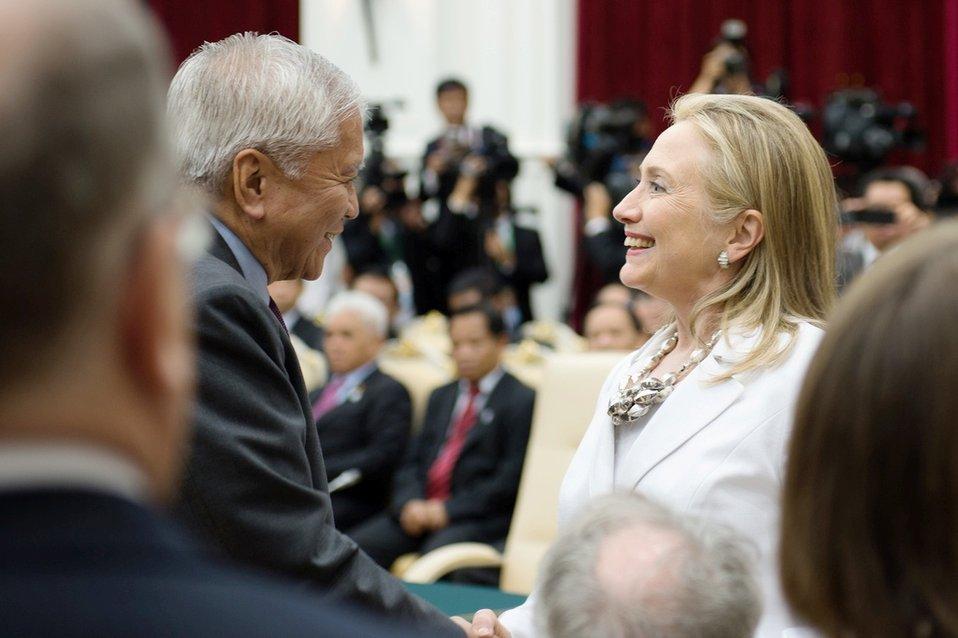 Secretary Clinton Participates in the ASEAN-U.S. Leaders' Meeting