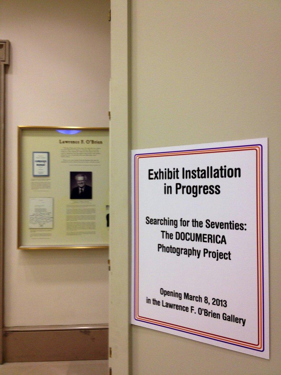Documerica Installation Begins