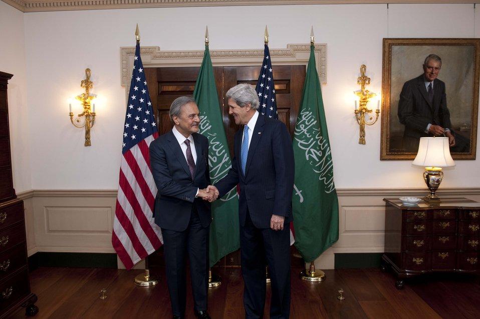 Secretary Kerry Meets With Saudi Foreign Minister Saud al-Faisal
