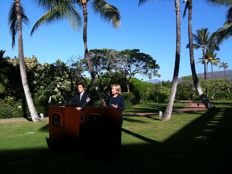 Secretary Clinton With Japanese Foreign Minister Okada