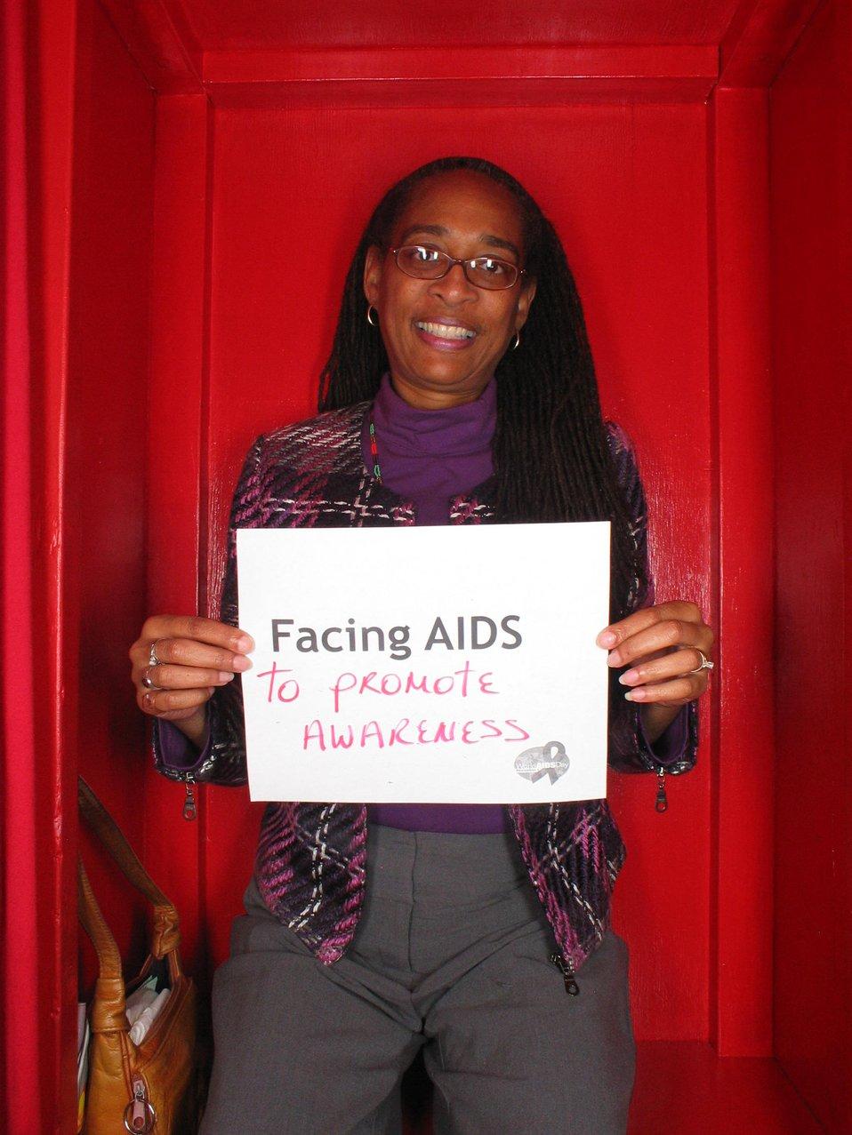 Facing AIDS to promote awareness