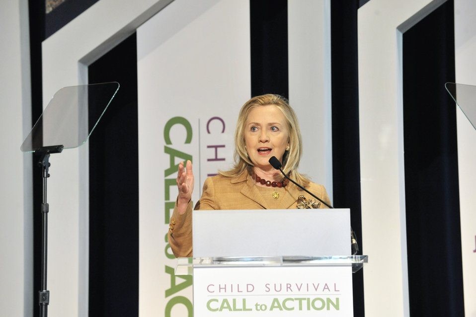 Secretary Clinton Delivers Remarks at the Child Survival Forum