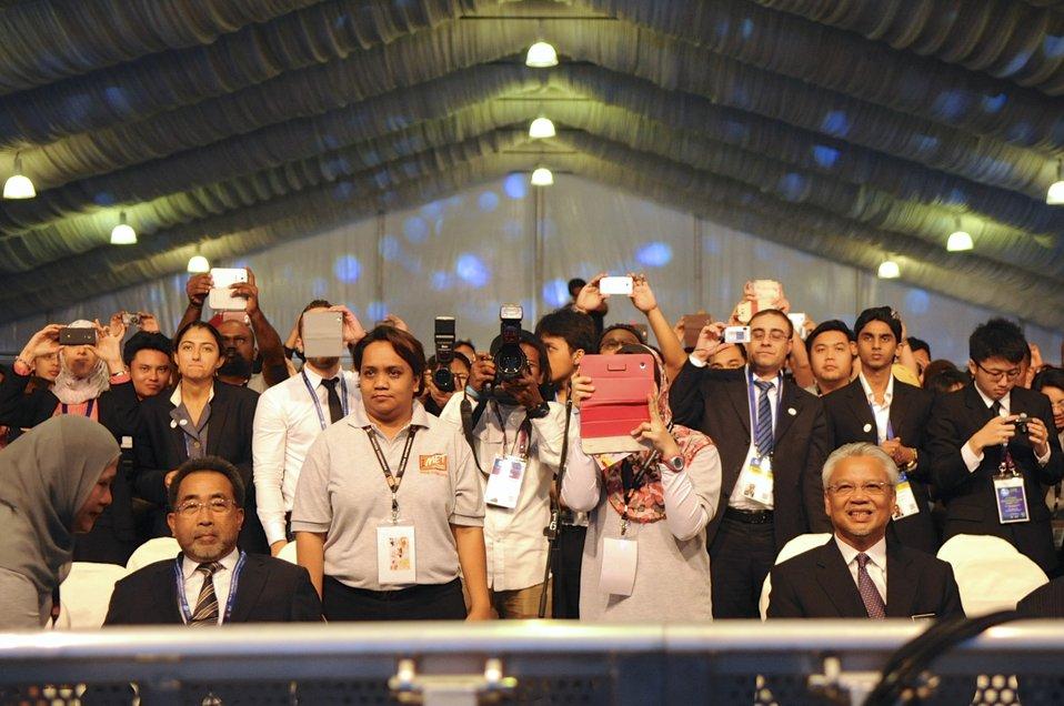 Attendees at 1MET Kick-Off Listen to Secretary Kerry