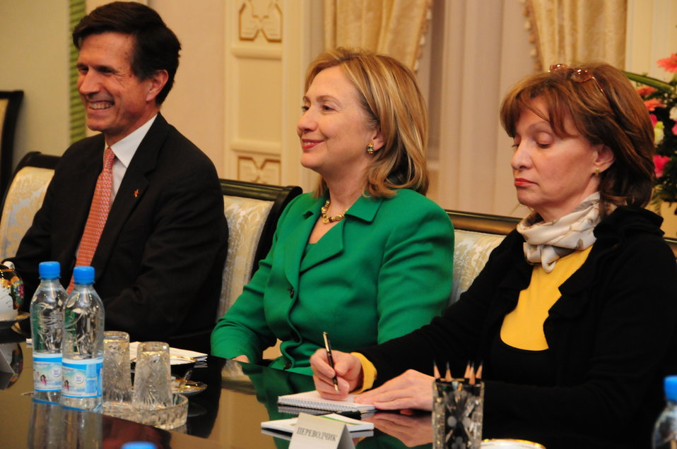Secretary Clinton and Assistant Secretary Blake Meet With Uzbek President Karimov