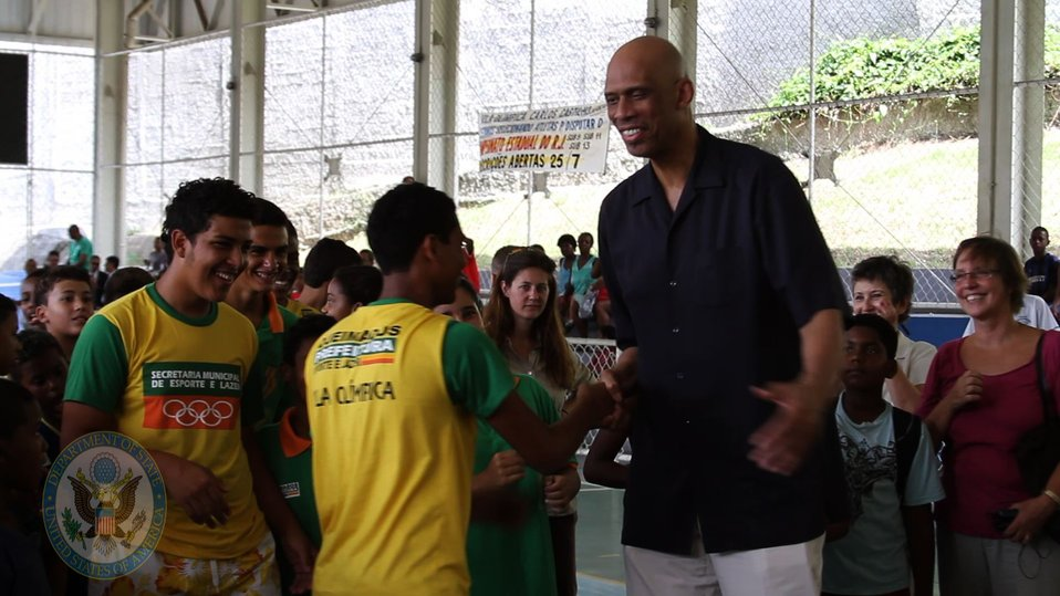 Global Cultural Ambassador Kareem Abdul-Jabbar Engages Youth