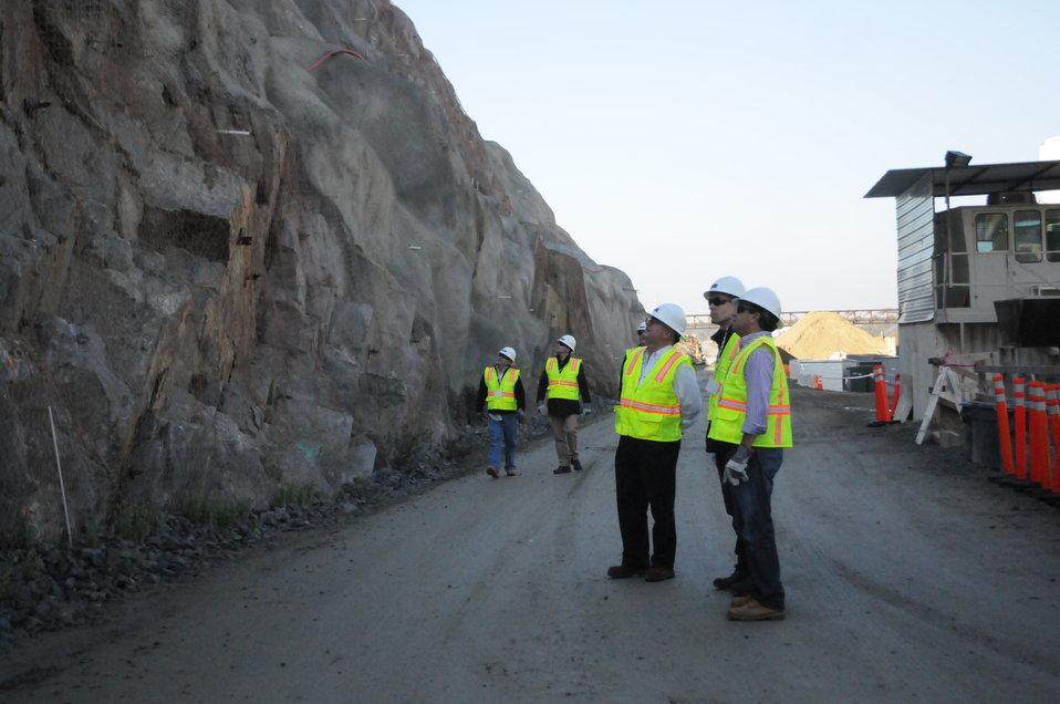 Phase IV Contractors Visit Construction Site