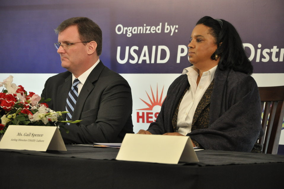 COP (PDIP and Gail Spence (Deputy Director USAID Punjab)
