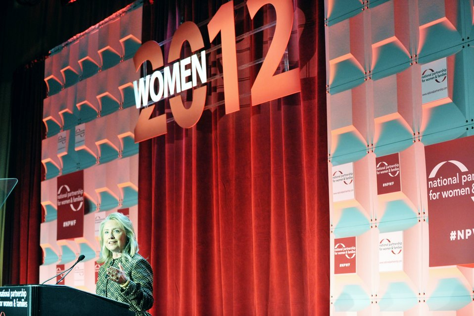Secretary Clinton Delivers Remarks at the National Partnership for Women and Families