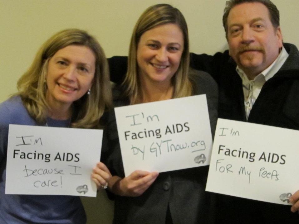 I'm Facing AIDS because I care. I'm Facing AIDS by GYTnow.org. I'm Facing AIDS for my peeps.