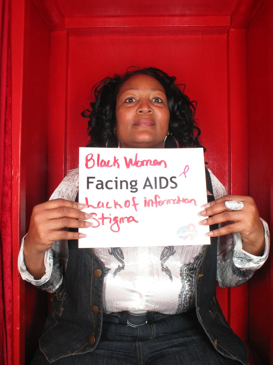 Black women Facing AIDS lack information. Stigma