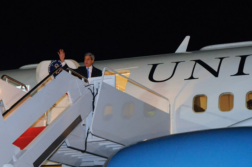 Secretary Kerry Departs from Andrews Air Force Base for Geneva