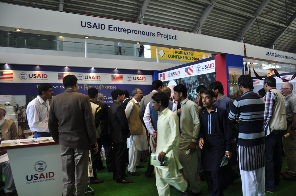 The Stall of USAID's Entrepreneurs Project at  Dawn Sarsabz  Pakistan Agri Expo.