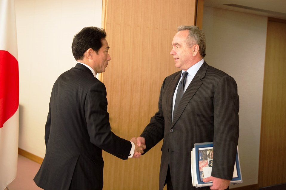 Assistant Secretary Campbell Is Greeted By Japanese Foreign Minister Kishida