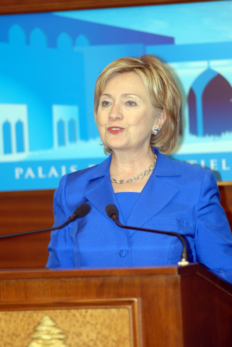 Secretary Clinton Meets With Lebanese President