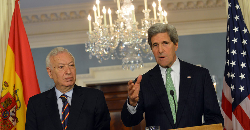 Secretary Kerry and Spanish Foreign Minister Garcia-Margallo Address Reporters