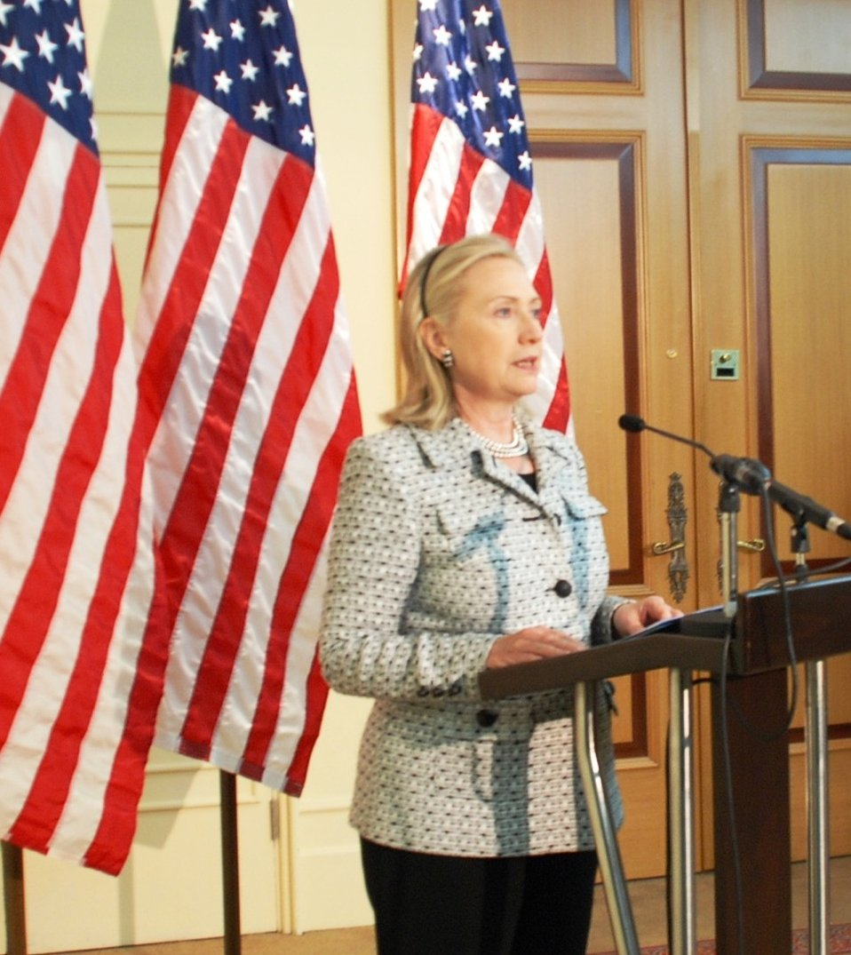 Secretary Clinton Addresses Reporters After Fourth Libya Contact Group Meeting