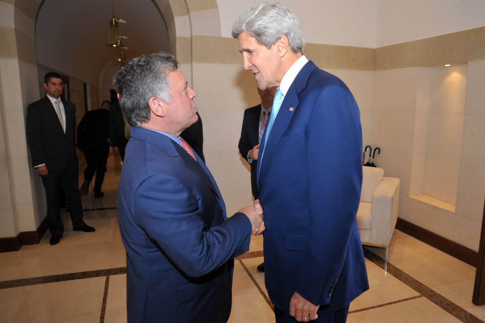 Secretary Kerry Meets With King Abdullah II