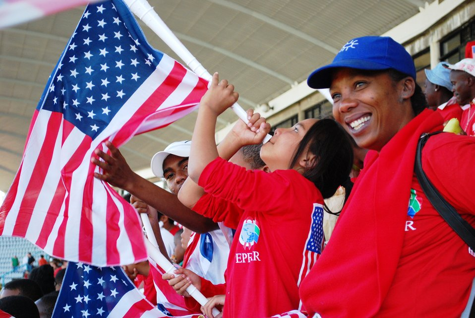 Fans Cheer for U.S. National Soccer Team