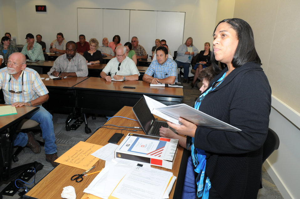 Small businesses bid for Corps levee repair contract